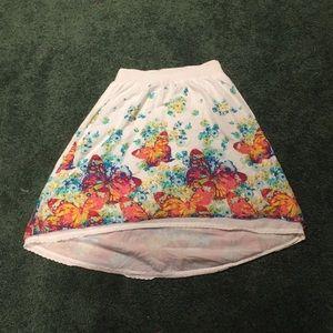Kids White butterfly skirt